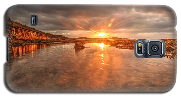 Galaxy S5 Case featuring the photograph Sunset Reflection by Gouzel -