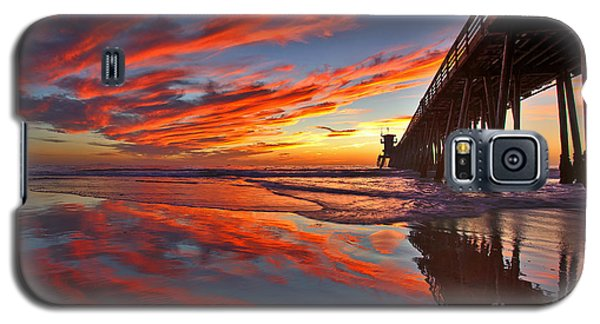 Sunset Reflections At The Imperial Beach Pier Galaxy S5 Case