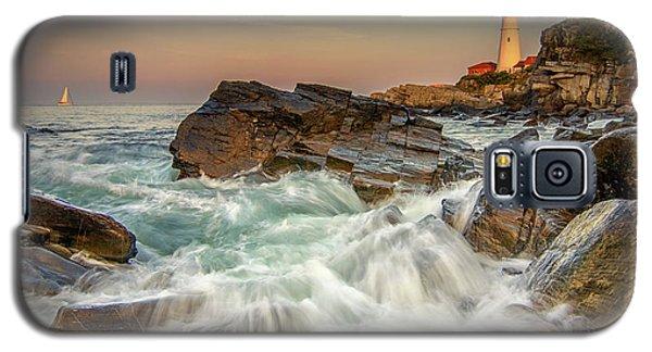 Sunset Sail At Portland Head Light Galaxy S5 Case