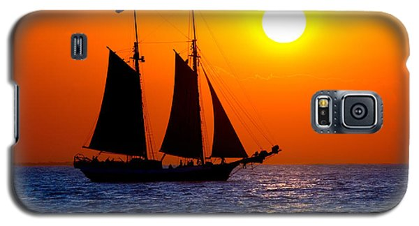 Sunset Sailing In Key West Florida Galaxy S5 Case