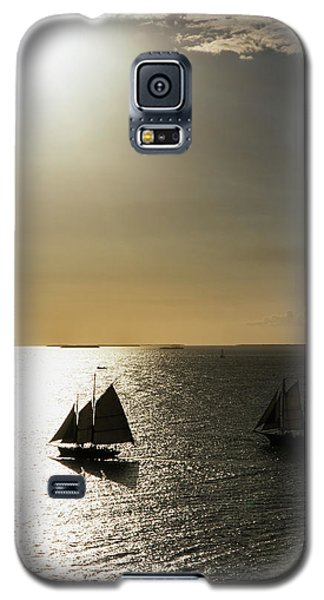 Sunset Schooners Galaxy S5 Case
