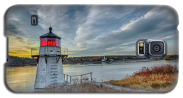 Sunset, Squirrel Point Lighthouse Galaxy S5 Case