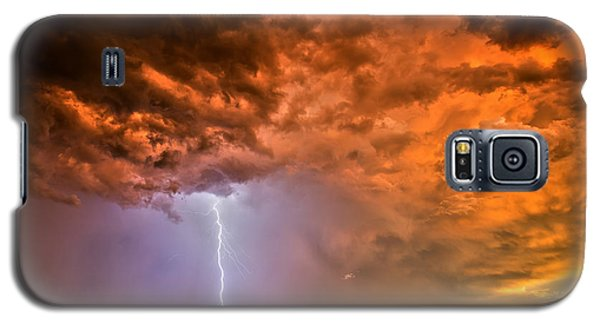 Galaxy S5 Case featuring the photograph Sunset Strike by James Menzies