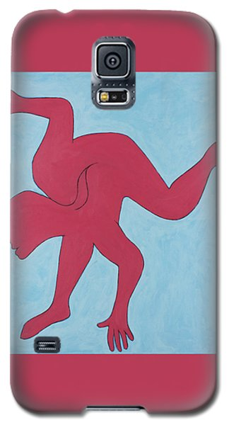 Galaxy S5 Case featuring the painting Sunset Surfer by Ben Gertsberg