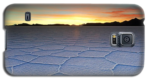 Lake Uyuni Sunset Texture Galaxy S5 Case