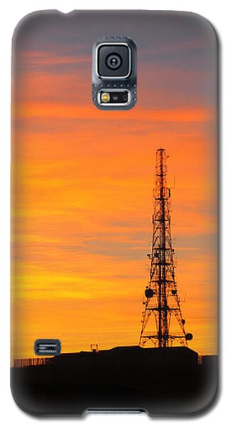 Galaxy S5 Case featuring the photograph Sunset Tower by RKAB Works