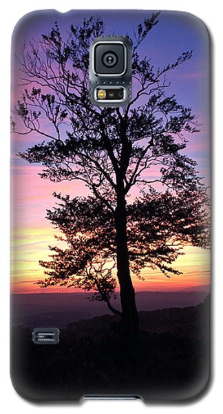 Galaxy S5 Case featuring the photograph Sunset Tree by RKAB Works