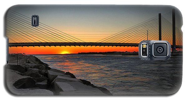 Sunset Under The Indian River Inlet Bridge Galaxy S5 Case