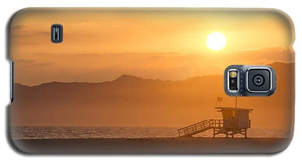 Galaxy S5 Case featuring the photograph Sunset Venice Beach  by Christina Lihani