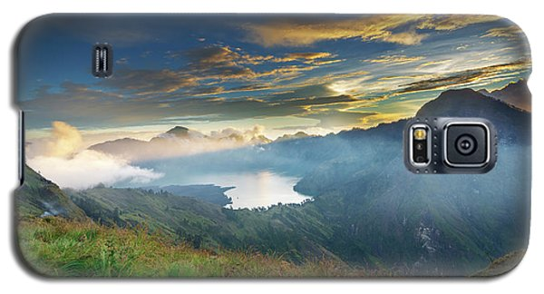Sunset View From Mt Rinjani Crater Galaxy S5 Case