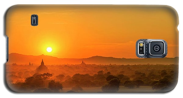 Sunset View Of Bagan Pagoda Galaxy S5 Case