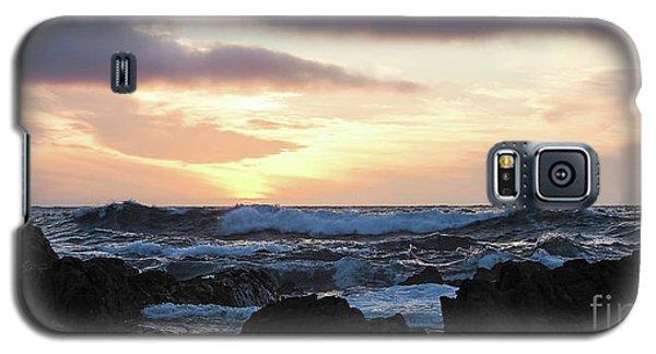 Sunset Waves, Asilomar Beach, Pacific Grove, California #30431 Galaxy S5 Case