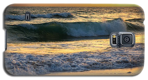 Sunset Waves Galaxy S5 Case by Rebecca Hiatt