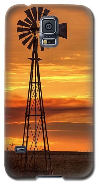Sunset Windmill 01 Galaxy S5 Case
