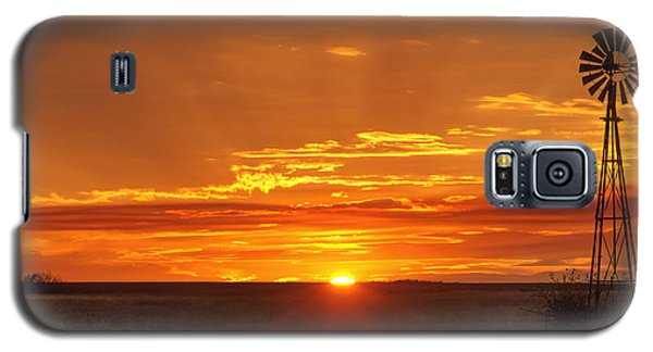 Sunset Windmill 02 Galaxy S5 Case