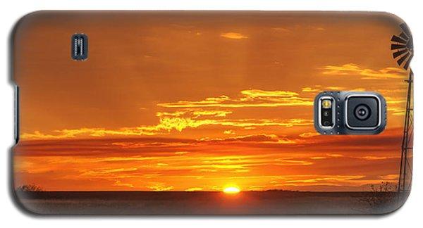 Sunset Windmill 02 Galaxy S5 Case