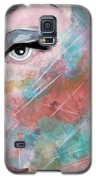 Sunset - Woman Abstract Art Galaxy S5 Case