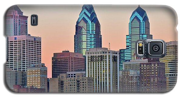 Galaxy S5 Case featuring the photograph Sunsets Glow In Philly by Frozen in Time Fine Art Photography