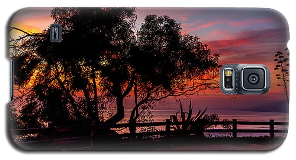 Sunset Silhouettes From Palisades Park Galaxy S5 Case