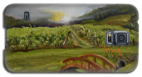 Sunshine Bridge At The Cartecay Vineyard - Ellijay Ga - Vintner's Choice Galaxy S5 Case