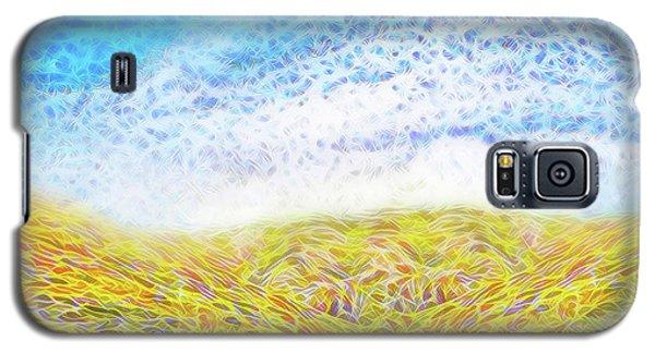 Galaxy S5 Case featuring the digital art Sunshine Path - Field In Marin California by Joel Bruce Wallach