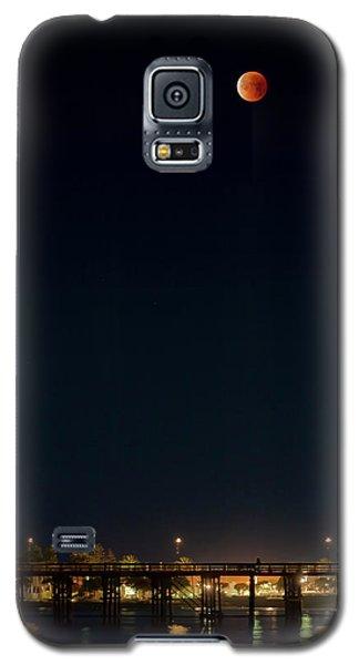 Super Blood Moon Over Ventura, California Pier Galaxy S5 Case