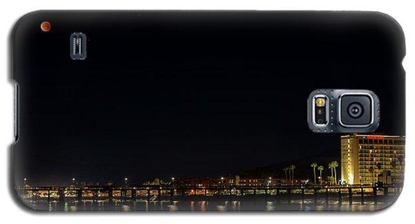 Super Blue Blood Moon Over Ventura, California Pier  Galaxy S5 Case