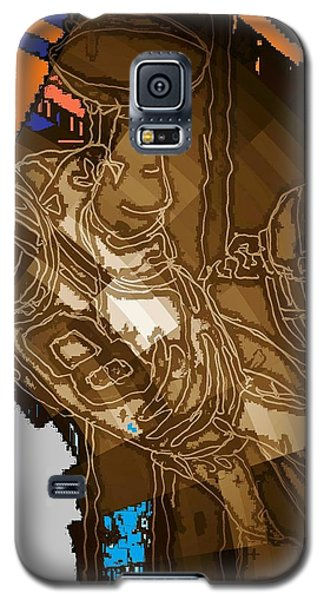 Galaxy S5 Case featuring the mixed media Super Bowl 2016 by Andrew Drozdowicz