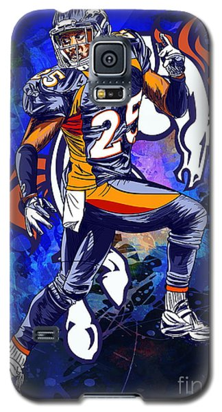 Galaxy S5 Case featuring the drawing Super Bowl 2016  by Andrzej Szczerski