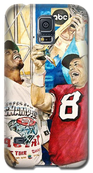 Super Bowl Legends Galaxy S5 Case by Lance Gebhardt