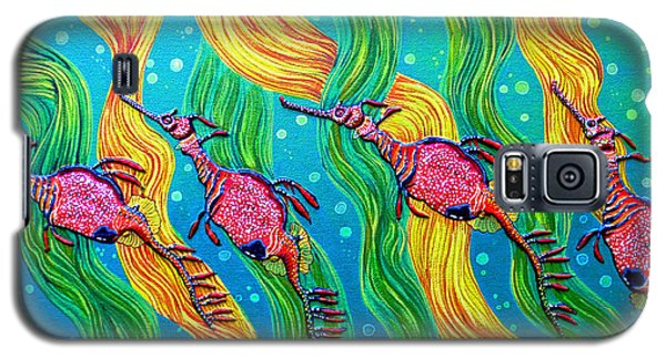 Galaxy S5 Case featuring the painting Super Late For Supper by Debbie Chamberlin