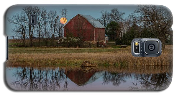 Super Moon And Barn Series #1 Galaxy S5 Case