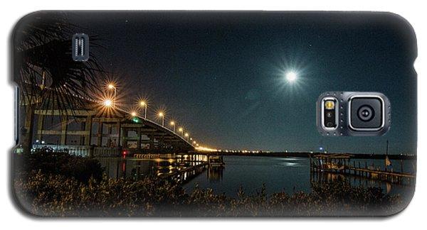 Super Moon And Bridge Lights Galaxy S5 Case