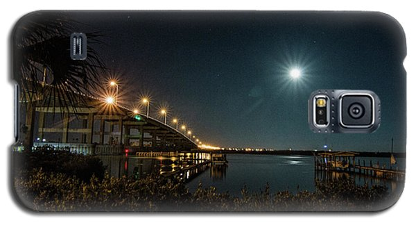 Super Moon And Bridge Lights Galaxy S5 Case
