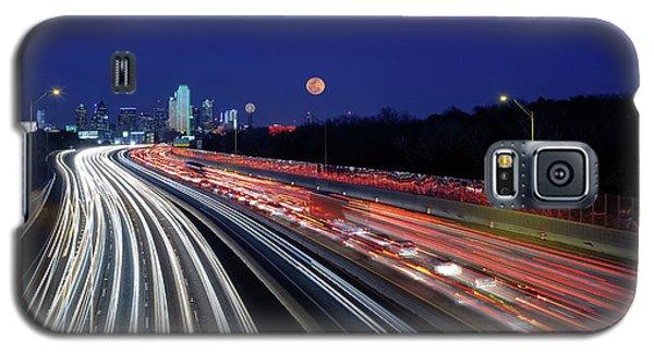 Super Moon And Dallas Texas Skyline Galaxy S5 Case
