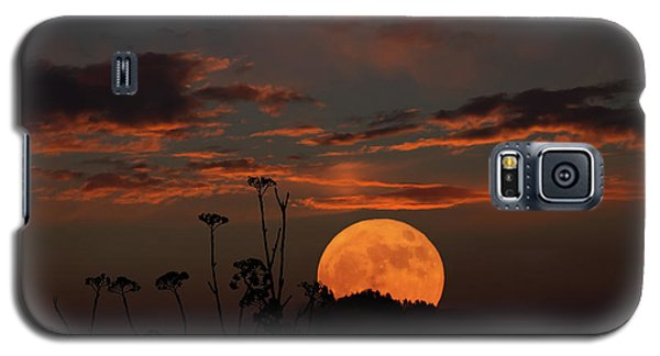 Super Moon And Silhouettes Galaxy S5 Case