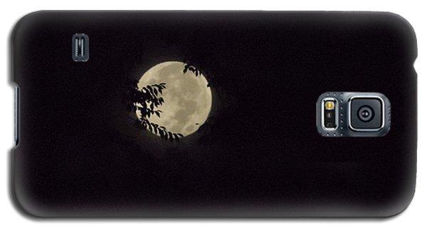 Galaxy S5 Case featuring the photograph Super Moon At Dawn by Deborah Moen