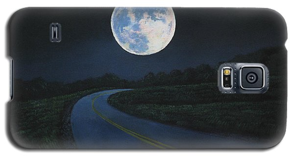 Super Moon At The End Of The Road Galaxy S5 Case