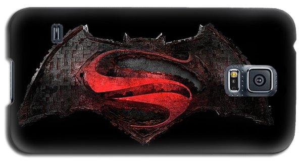 Galaxy S5 Case featuring the photograph Superman Vs Batman by Louis Ferreira