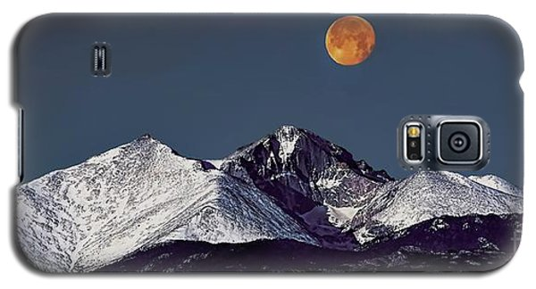 Supermoon Lunar Eclipse Over Longs Peak Galaxy S5 Case