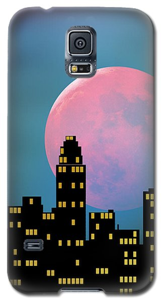 Supermoon Over The City Galaxy S5 Case