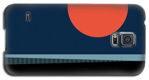 Galaxy S5 Case featuring the digital art Supermoon Over The Sea by Klara Acel