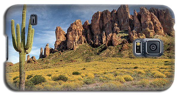 Galaxy S5 Case featuring the photograph Superstition Mountains Saguaro by James Eddy
