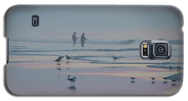 Galaxy S5 Case featuring the photograph Surf Fishing In Wildwood by Bill Cannon