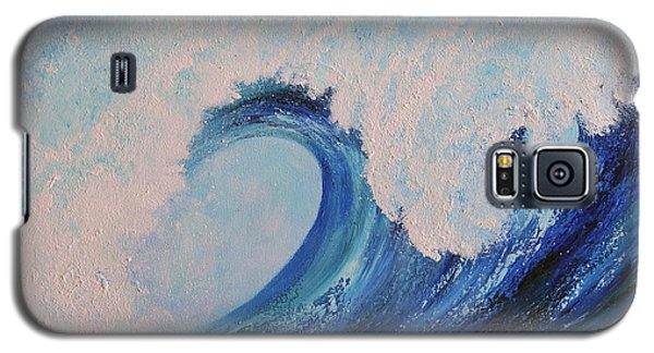 Galaxy S5 Case featuring the painting Surf No.2 by Teresa Wegrzyn