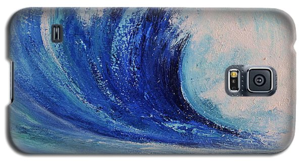 Galaxy S5 Case featuring the painting Surf by Teresa Wegrzyn