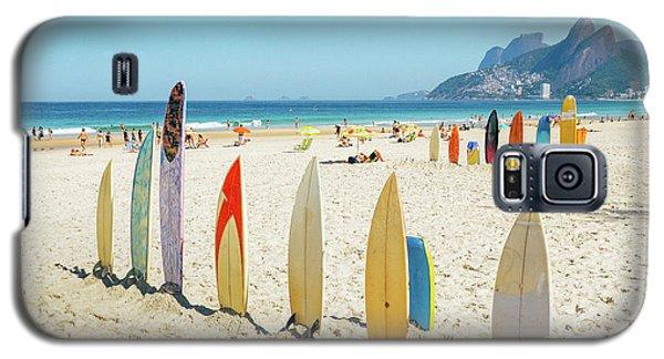 Surfboards On Ipanema Beach, Rio De Janeiro Galaxy S5 Case