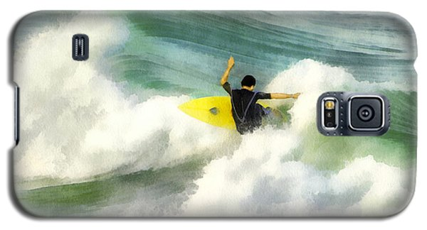 Galaxy S5 Case featuring the digital art Surfer 76 by Francesa Miller