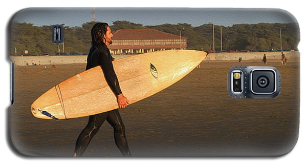 Surfer At Ocean Beach Galaxy S5 Case
