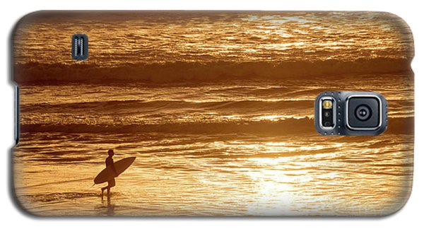 Galaxy S5 Case featuring the photograph Surfer by Delphimages Photo Creations